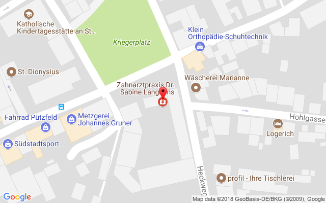 Zahnarzt Köln-Longerich ++ Karte